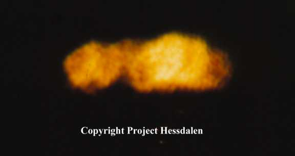 Picture of the Hessdalen phenomena that has the form as a trailer