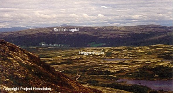 Hessdalen, A view from the mountain Finnsåhøgda (south), towards east