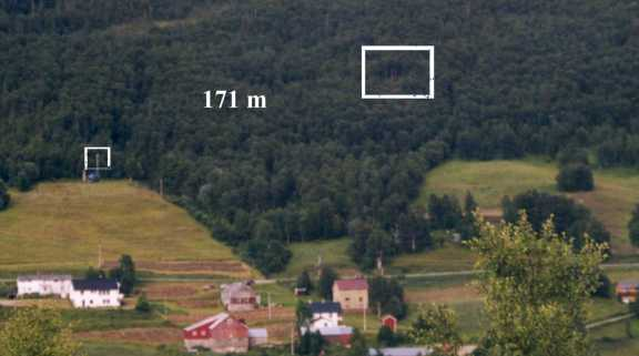 The location of the two cameras